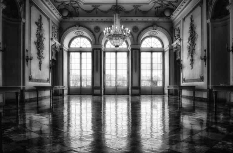 castle, hall, window