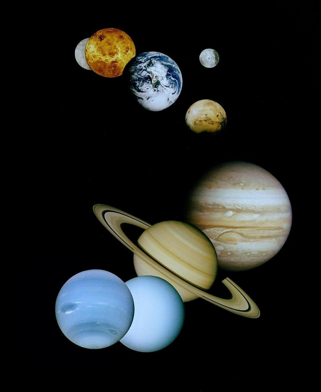 solar, system, montage