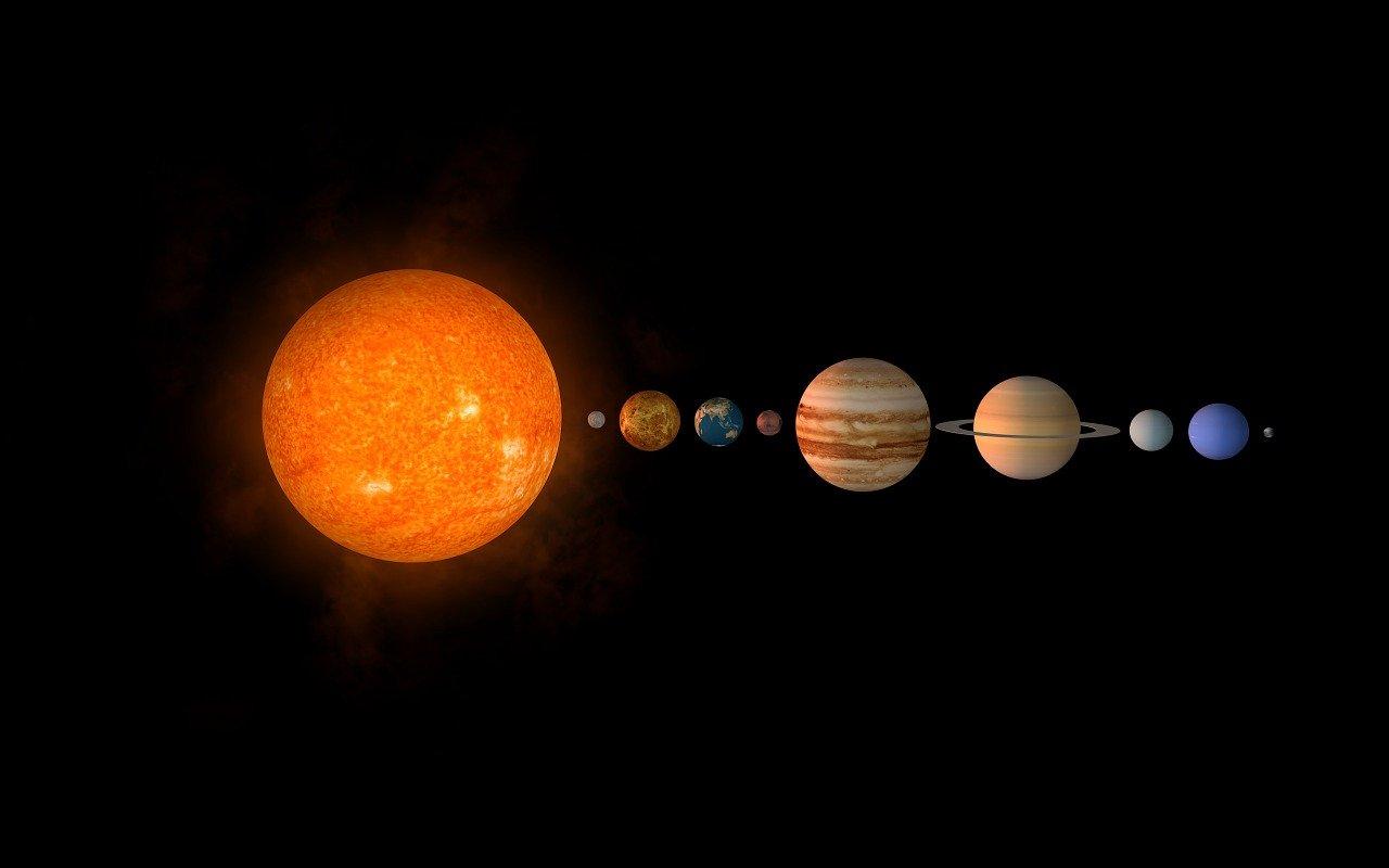 sun, planet, solar system