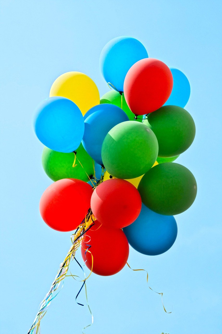 balloons, party, colorful